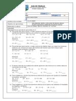 guía de trabajo n° 9 ejercicios combinados sin paréntesis en Z