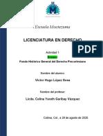 Actividad 1 - Derecho Mexicano - 29-08-2020