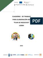 Cuaderno de trabajo para elaboración del Plan de Negocios UGMH