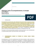DISTINGOS ENTRE EL ACOMPAÑAMIENTO Y LA TERAPIA PSICOLÓGICA