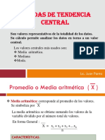MEDIDAS DE TENDENCIA CENTRAL Y DISPERSIÒN