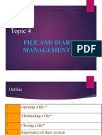 TOPIC 4 FILE  DIARY MANAGEMENT
