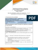 Guía de actividades y rúbrica de evaluación – Tarea 4 Interpretación de las teorías de integración
