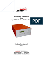 Ultrasonic manual