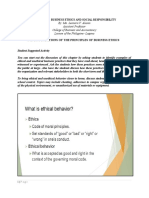 Teaching Guide for Foundations of the Principles of Business Ethics