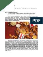 PKU 2; Analisis Peluang Usaha Makanan Khas Daerah