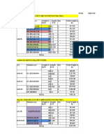 Material Take off for Warehouse B1&B2-comparison of pile dia
