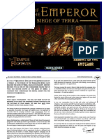 Age of the Emperor 3 the Siege on Terra Armies of the Emperor