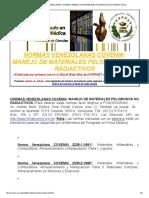 NORMAS VENEZOLANAS COVENIN_ MANEJO DE MATERIALES PELIGROSOS NO RADIACTIVOS