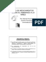 10. Uso de medicamentos en Embarazo, Lactancia y Niños