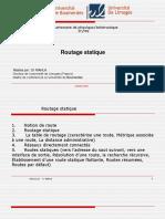 Cours 7 Routage statique