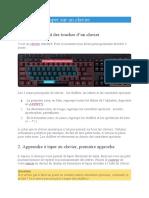 Apprendre à taper sur un clavier