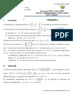 Mathematiques7 concours ITA 2013