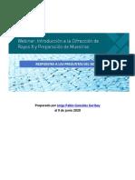 Webinar Introducción a la DRX y Preparación de Muestras (Preguntas y Respuestas)