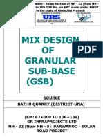 GSB (SOURCE- BATHU UNA QUARRY ) Grade- III