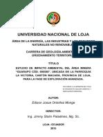 ESTUDIO DE IMPACTO AMBIENTAL DEL AREA MINERA GUARAPO