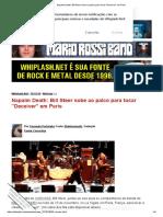 Napalm Death_ Bill Steer sobe ao palco para tocar _Deceiver_ em Paris
