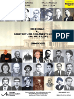 Dictionar Al Arhitecturii Romanesti Moderne A-C