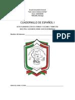 Cuadernillo Español Primer Grado