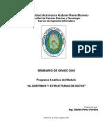 Syllabus Modulo ED UAGRM