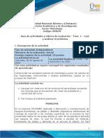 Guía de actividades y rúbrica de evaluación – Fase  1 – Leer y analizar el problema