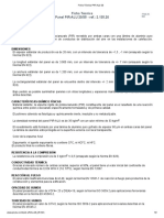 Ficha Técnica PIR-ALU 20