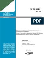 NF EN 196-21