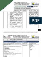 PR-AM-04 Proc Selección, evaluación de Proveedores