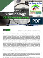 Basic Concept In Criminology