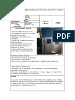 DESCRIPCION DE FICHAS TECNICAS