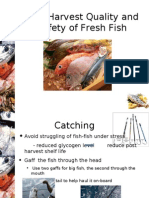 Post Harvest Quality and Safety of Fresh Fish