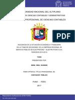 INCIDENCIA DE LA SITUACIÓN ECONÓMICA Y FINANCIERA 2014 - 2015