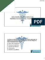 Discusion Farmacologia 1