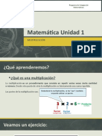Matemática Unidad 1 Multiplicación