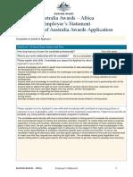 Australia Awards (Employer Statement)