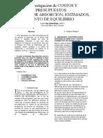 INVESTIGACIÓN COSTOS POR ABSORCIÓN, ESTIMADOS, PUNTO DE EQUILIBRIO.docx