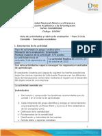 Guía de actividades y rubrica de evaluación - Unidad 1 - Fase 2 - Ciclo contable - conceptos contables