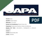 FUNDAMENTOS FILOSOFICOS E HISTORIA DE LA EDUCACION UNIDAD 9.odt