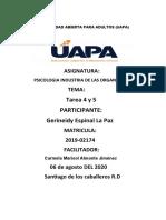 TAREA 4 Y 5 PSICOLOGIA industrial