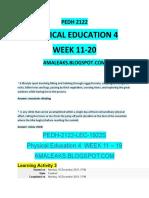 PEDH-2122 WEEK 11-20