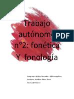 Trabajo autónomo fonetica 2
