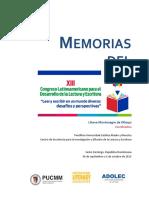 Memorias del XIII Congreso Leer y escribir en un mundo diverso, desafíos y perspectivas.