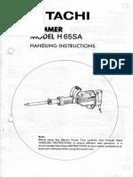 Hitashi H65SA Instructions & Service Manual