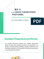 Tema II - Estados financieros  proforma