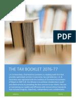 Tax Booklet Nepal