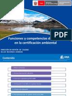 Funciones y competencias de la ANA en la certificación ambiental