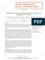 A Randomized Trial of Hydroxychloroquine as Postexposure Prophylaxis Covid 19