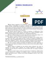 06 - TEMA -0.333 - HERMES TRISMEGISTO