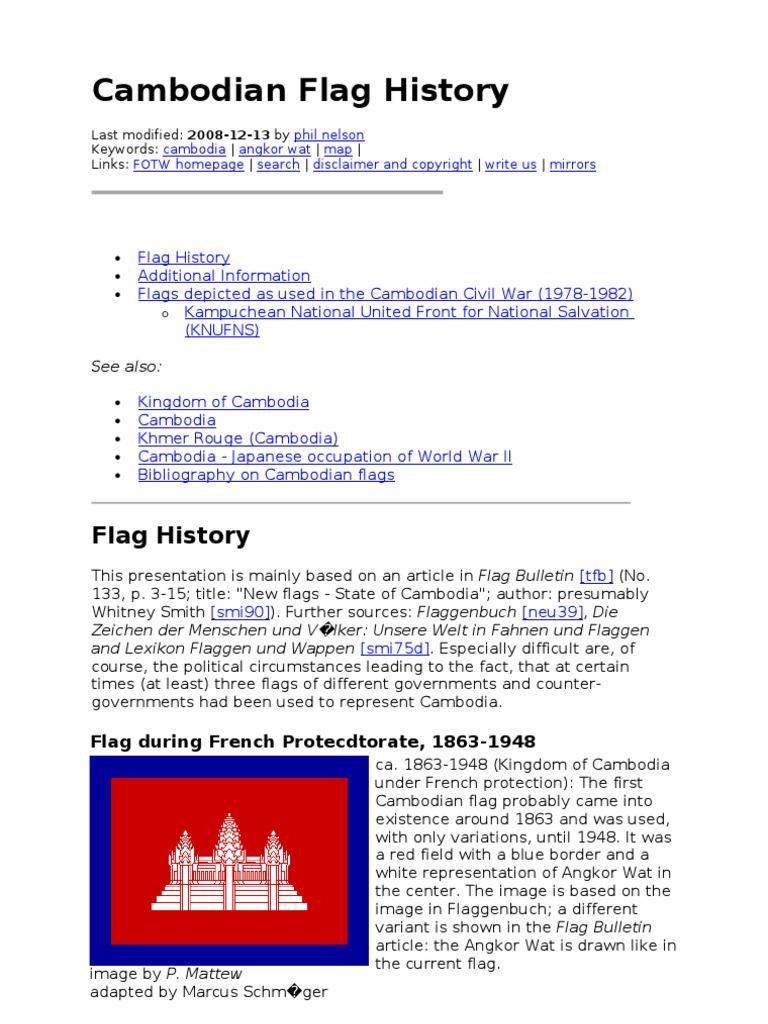 Cambodian Flag History   Cambodia   Khmer Rouge