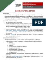 Procedimiento para Tema de Tesis (2020)